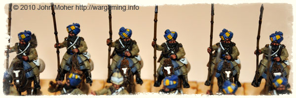 A closer view of the rear rank of (Sikh) Bengal Lancers.