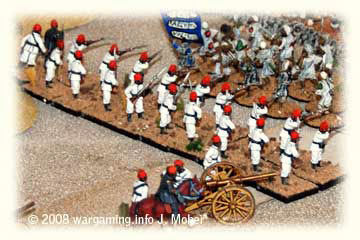 Egyptian Infantry & Artillery face the Dervishes