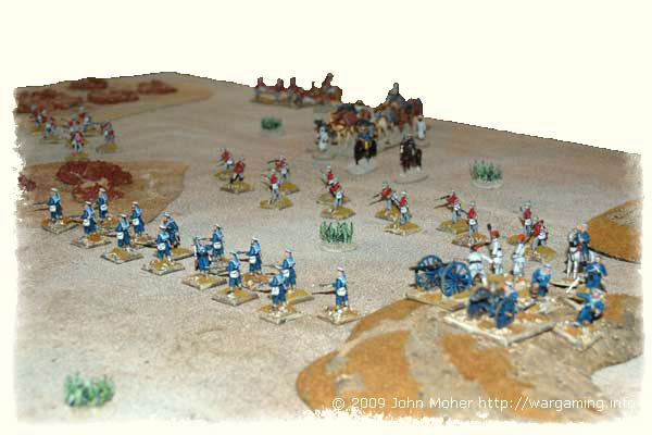 Sir Henry's Anglo-Egyptian force deploys for action as it enters the small valley containing the oasis of Baqah al-Garbiyyah!