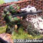 Liberation Miniatures Modern German with Sniper Rifle - figure from Kieran Mahony's collection