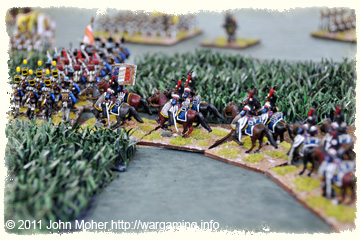 French Cuirassiers move up into the centre of the line