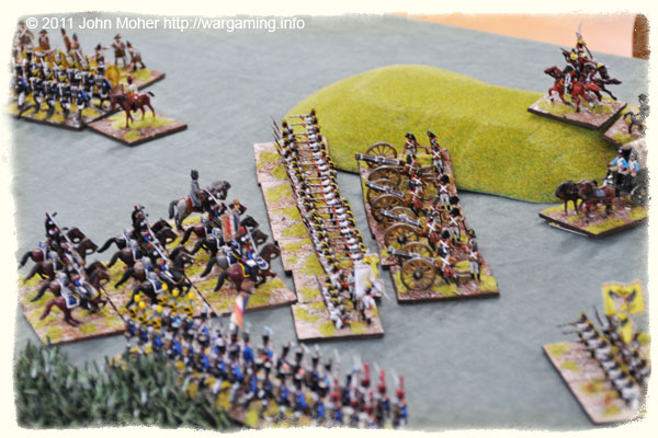The End: The French Cuirassiers finally charge, led by L'General himself, but the French Division has broken before they charge home and is leaving the field!