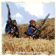 Union Zouaves passing through a wheat field