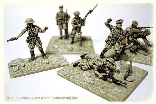One of Ryan's Crossfire Platoons - Platoon Commander on left, and 3 Rifle Squads.
