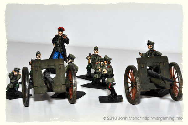 28mm WW1 Russian 7.62cm Field Artillery Battery