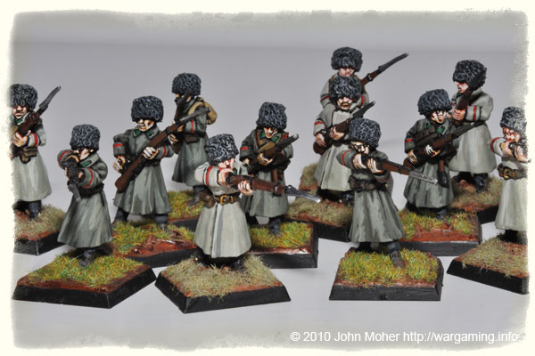 28mm WW1 Russians - A Company of Siberian Infantry in Winter Uniform