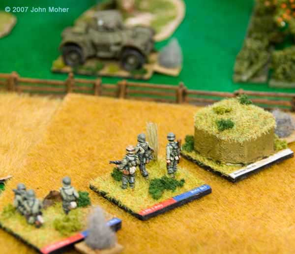 The German Defence concentrates in the Wheatfield.