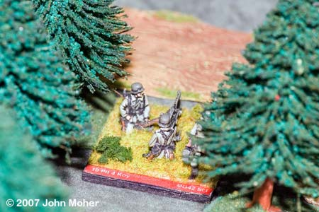 Concealed German MMG Section opens up on No.3 Platoon.