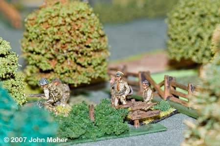 The second Canadian Mortar OP moves up in support of No.1 Platoon.