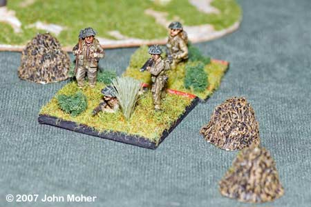 """SNAFU!"" - In their haste to chase down the Sniper harassing them part of No.3 Platoon walk into the middle of an unmarked minefield!"