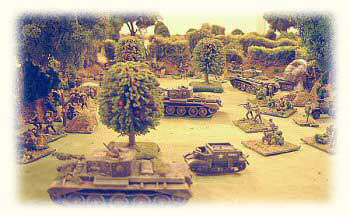 A Normandy scene from one of Tim Marshall's many inspirational Crossfire games - photo courtesy of Tim Marshall.