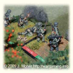 German Infantry advancing under fire - AB Figures.