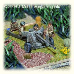 A 6pdr ATG awaits the advancing Germans