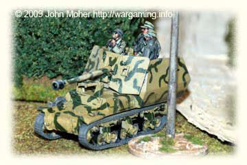 The same Marder moves up to support Platoon 3 and cover the Tiger's recovery, it's commander apparantly wary of Allied JagdBombers.